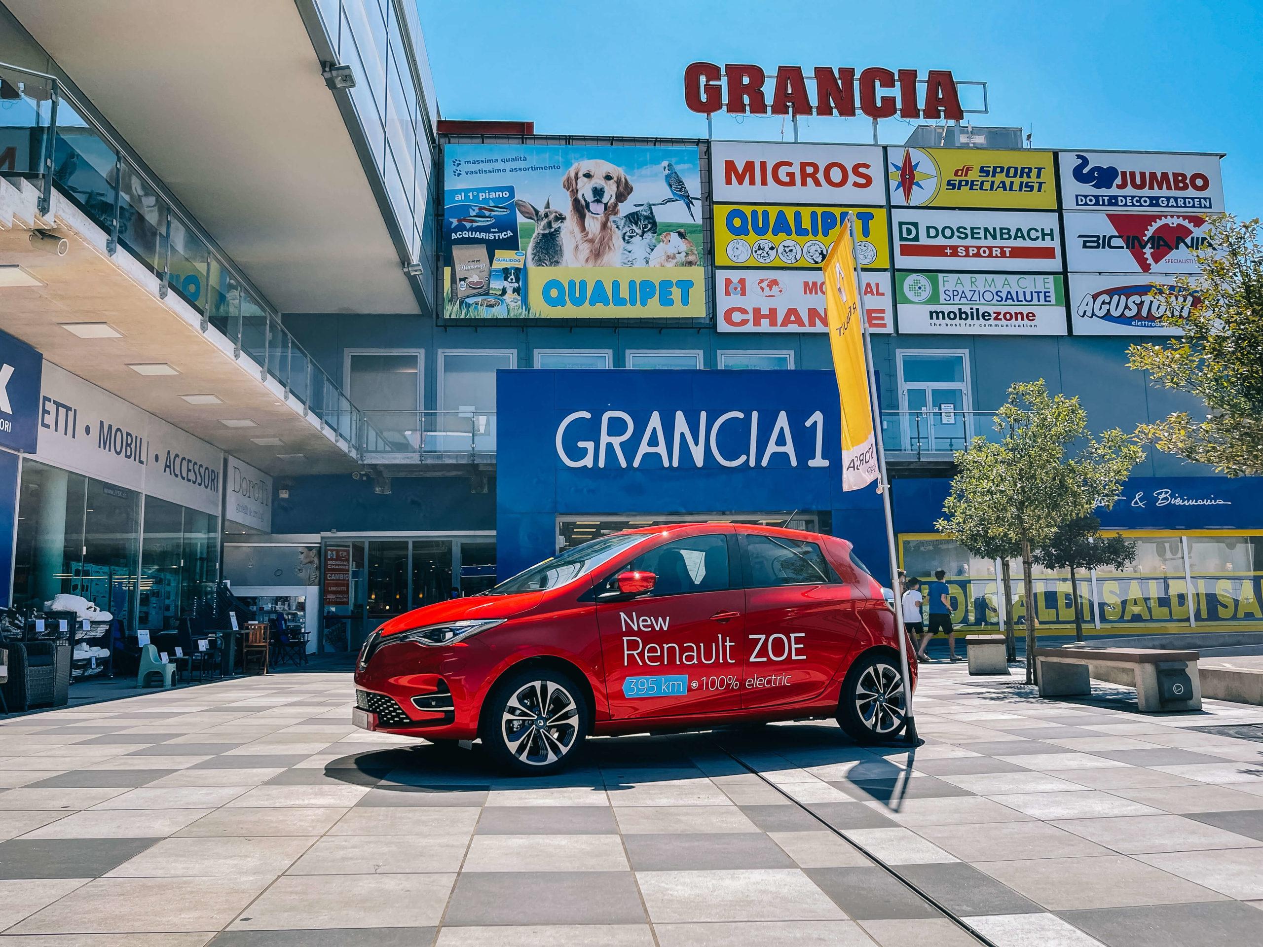 Renault ZOE E-TECH Elettrica Grancia Lugano Bioggio